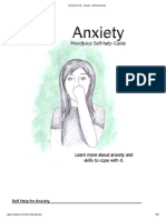 Anxiety - Self-Help Guide