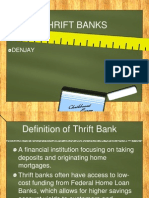 Thrift Banks Reporting banking and finance