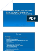3.1 El Transporte Fluvial Boliviano en La Cuenca Del Plata - Hpp