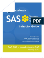 SAS 101 Instructor Manual 1.16.2013(1)