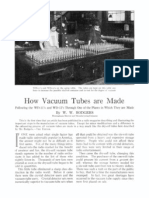How Vacuum Tubes Are Made - 1923