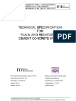 Appendix B - Technical Specification for Plain & Reinforced Concrete Works