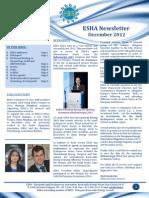 ESHA Newsletter December 2012