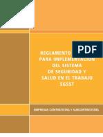 Anexo 8-2 Reglamento Especial Para La Implementacion Del SGSST