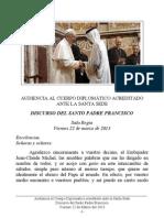 Discurso del Santo Padre al Cuerpo Diplomático acreditado ante la Santa Sede - 22 Marzo 2013