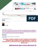 Artículo Lista de Aplicaciones ICS a eliminar sin problemas - HTCMania