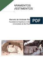 AUT190 - Marcelo de Andrade Roméro. Paramentos revestimentos
