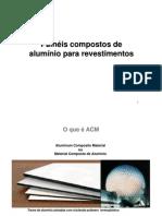 AUT190 - Painéis compostos de alumínio para revestimentos (ACM)