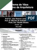 AUT190 - Sistema de vãos no ensino da Arquitetura. 03-2005
