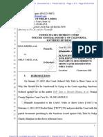 Liberi, Et Al v Taitz, Et Al - Plaintiffs Sur-Reply Re OSC Issued Upon O. Taitz