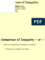 Inequal Comparisons