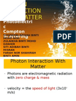 Photon Interaction With Matter (1)