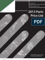 Corbin Russwin 2013 Parts Price Book