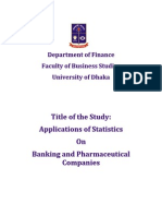 Applications of Statistics