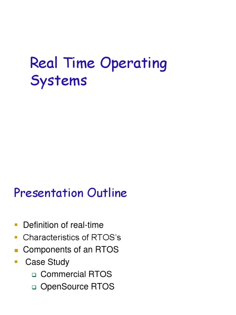 Rtos Comparison | Scheduling (Computing) | Operating System