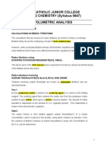 2013 H2 Redox Titration (Iodometric Titration) Teachers' Copy