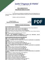 Boletín de Pases (AUF 2013)