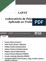 Apresentação LAPAT_GEPET-2013