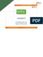 Curso Spring - Leccion 02 - Configuracion de Spring Framework