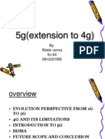 5g (Extension to 4g) presentation