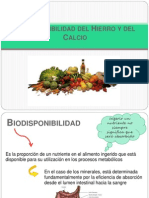 Biodisponibilidad de Fe y CA