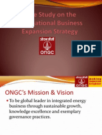 Ongc - International Business Expansion Strategy