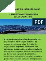 13.Valorização da radiação solar