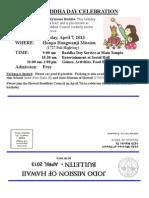 Jodo Mission Bulletin - April 2013