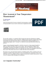 How Accurate is Your Temperature Measurement
