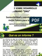 Informe Sobre Desarrollo Humano ONU