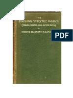 The Finishig of Textile Fabrics