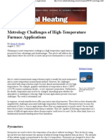 Metrology Challenges of High-Temperature Furnace Applications