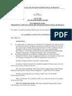 Ley Nº 230 Aprueba Contrato de Préstamo Suscrito entre Bolivia y el BID.doc