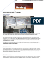 Furnace Internal Pressure