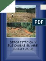 DEFORESTACIÓN Y SUS CAUSAS EN AIRE