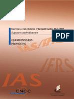 Audit Et IFRS Sur Les Provisions