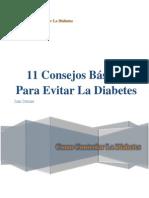 11 Consejos Básicos Para Evitar La Diabetes