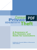 Consumer Privacy and Identity Theft