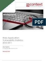 Context-Web Application Vulnerability Statistics 2010-11-Whitepaper