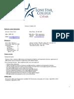 Calculus I 5009 Syllabus Fall 2011