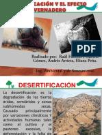 DESERTIFICACIÓN Y EL EFECTO INVERNADERO