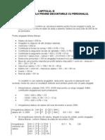 Monografie contabila privind decontarile cu personalul