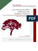 Oakland City Auditor Report_130321