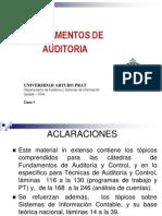 Fundamentos de Auditoria Clase 1