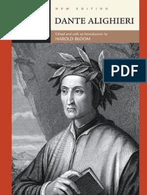 Harold Bloom Dante Alighieri Divine Comedy Dante Alighieri