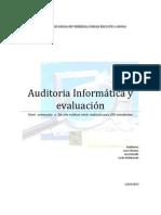 Auditoria Informática y evaluación
