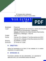 Invitación Uso Estratégico de la Web 2