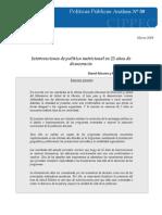 50 DPP A Salud, Politica nutricional a 25 años de democracia, Maceira y Stechina, 2007