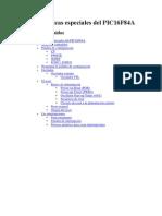Características especiales del PIC16F84A
