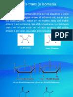 La isomería cis-trans (o isomería geométrica) diapositivas.pptx